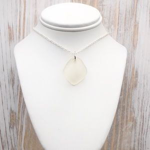 Genuine Sea Glass/ Beach Glass Bottle Rim Necklace
